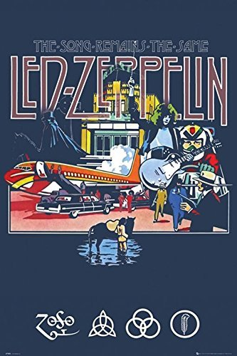 Led Zeppelin The Song Remains the Same 36x24 Music Art Print Poster Wall Decor Classic (Classic Concert Posters)