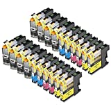 20 Pack Compatible Brother LC101 , LC103 8 Black, 4 Cyan, 4 Magenta, 4 Yellow for use with Brother DCP-J152W, MFC-J245, MFC-J285DW, MFC-J4310DW, MFC-J4410DW, MFC-J450DW, MFC-J4510DW, MFC-J4610DW, MFC-J470DW, MFC-J4710DW, MFC-J475DW, MFC-J650DW, MFC-J6520DW, MFC-J6720DW, MFC-J6920DW, MFC-J870DW, MFC-J875DW. Ink Cartridges for inkjet printers. LC101BK , LC101C , LC101M , LC101Y , LC103BK , LC103C , LC103M , LC103Y © Zulu Inks