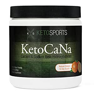 KetoSports KetoCaNa Dietary Ketone Supplement For Physical and Mental Performance, Natural Orange, 10.75 oz.