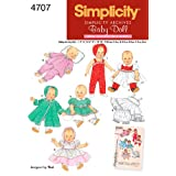 Simplicity Sewing Pattern 4707 Doll Clothes, A (Small - Medium - Large)