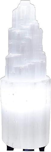 Himalayan Glow 1050 Natural Selenite Hand Curved Crystal Lamp