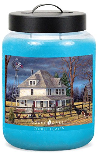 Goose Creek Scented Candles Folk Art Confetti Cake Essential Jar Candle  Top Quality Great Fragrance  24 Oz