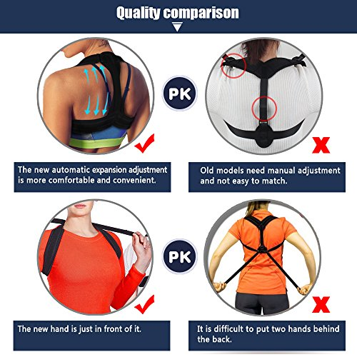 Back Posture Corrector for Women Men Kids, Back Brace,Clavicle Brace,Effective and Comfortable Posture Brace,The Elastic Design of The Back are More Comfortable and Convenient Than The Old Ones. by dobigthing (Image #2)