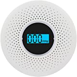 2 in 1 Smoke Alarm Carbon Monoxide Detector with Led Light Flashing Sound Warning, Battery Operated, High-Precision Low…
