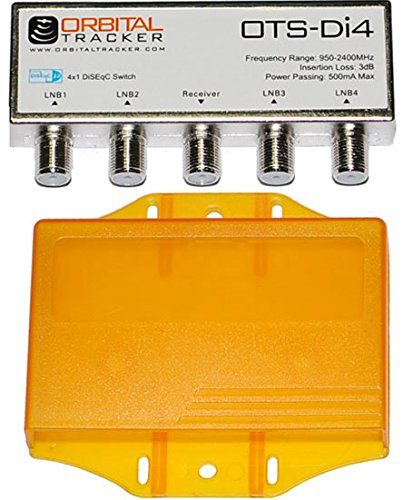 Weatherproof 4 x 1 DiSEqC 2.0 4 x 1 withカバースイッチSatellite Dish for FTA LNBF受信機 B00U2THIR2