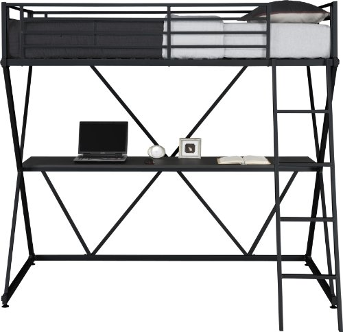 Dhp X Loft Metal Bunk Bed Frame With Desk Space Saving
