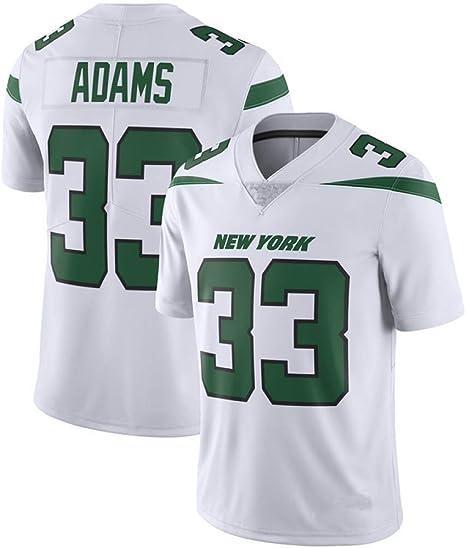 TTATT Camisa De Fútbol con Camiseta Deportiva De Hombre New York Jets 33# Jamal Adams Camiseta De Fútbol con Versión De Bordado Sport Top Jersey Camiseta De Manga Corta: Amazon.es: Deportes y