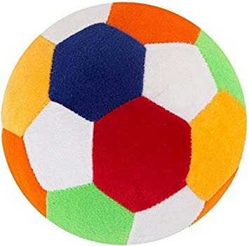 Punyah Creations Soft Toy Plush Ball with Large - 20 cm -( Multi Color )