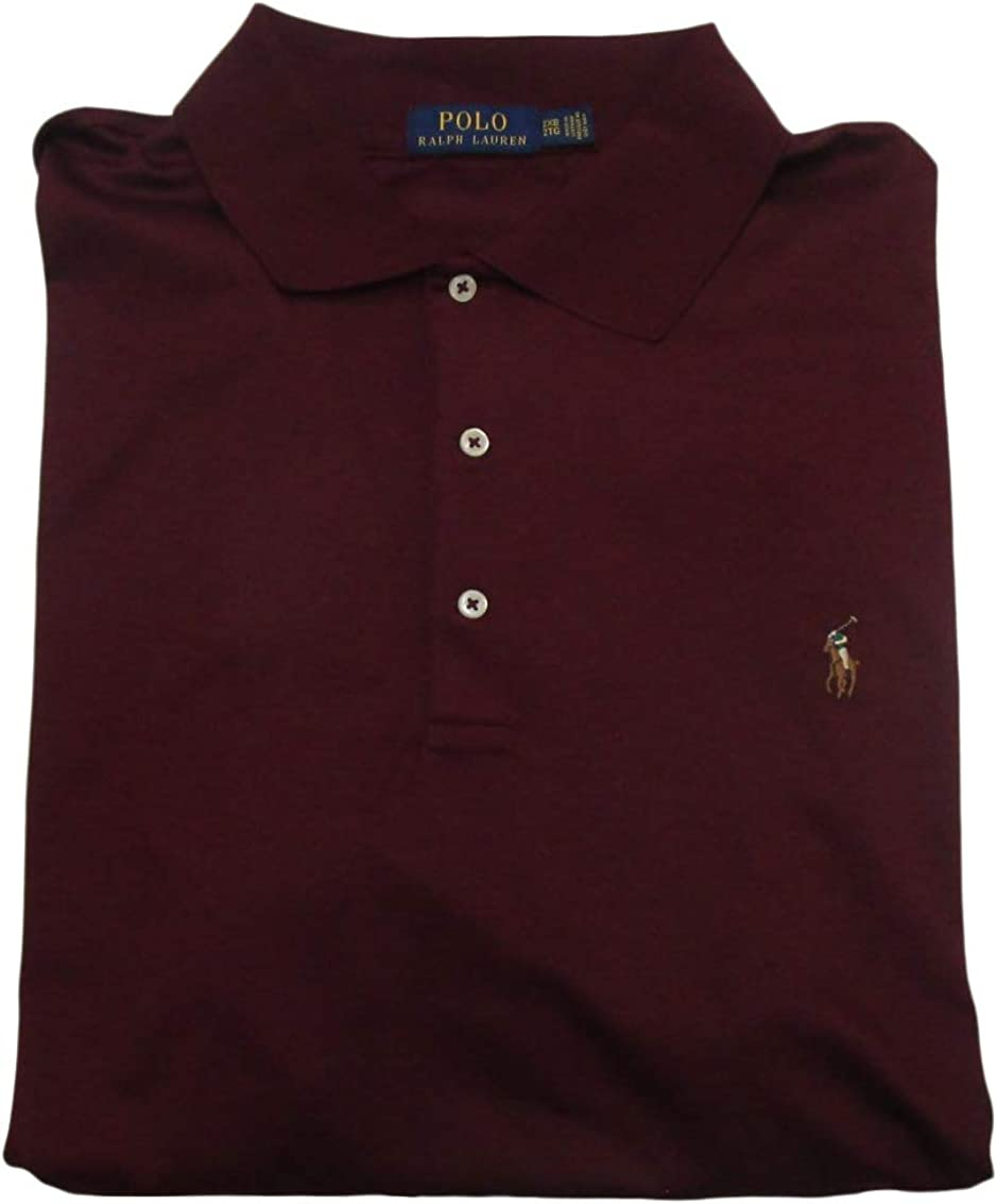 POLO RALPH LAUREN Mens Big and Tall Short Sleeve Pima Soft-Touch Polo Shirt