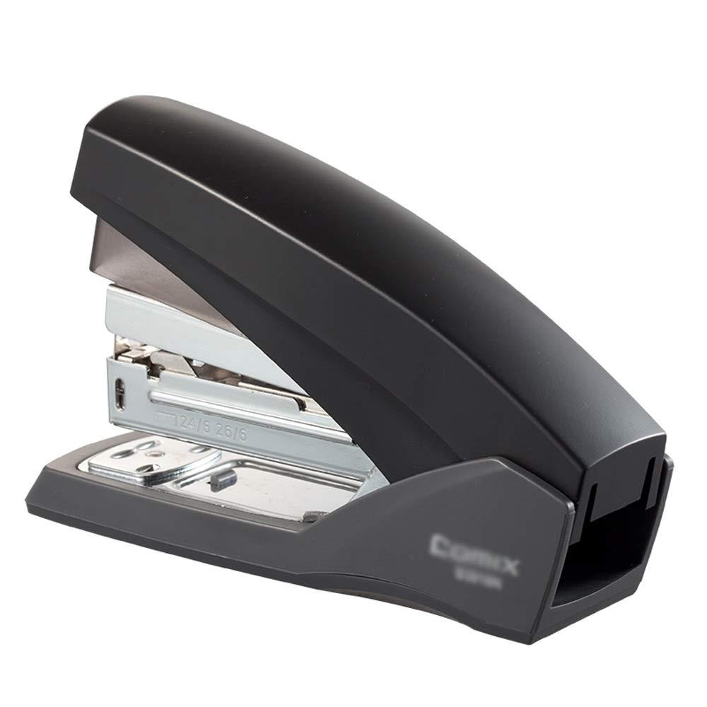 Stapler,Desk Stapler,Office Stapler,Standard Stapler,20 Sheet Capacity,Reduced Effort,Low Force,Office School Home Use AAA++ (Color : Black) by HYXXQQ-stapler