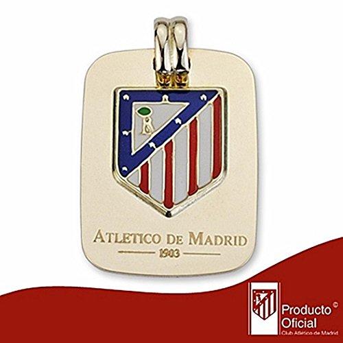 Chapa Atletico Madrid de loi bouclier émail 9k or [7012] - Modèle: 0520-156