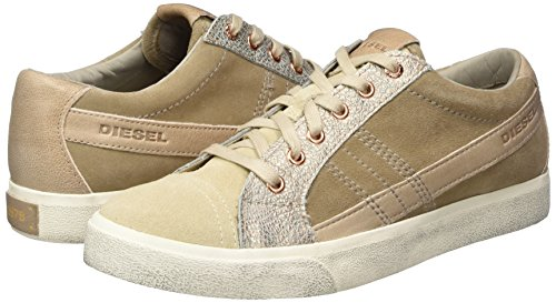 string W Simply Y01323 Sneaker Taupen Diesel Donna doeskin D Low s H6436 D velows Multicolore T0qSt