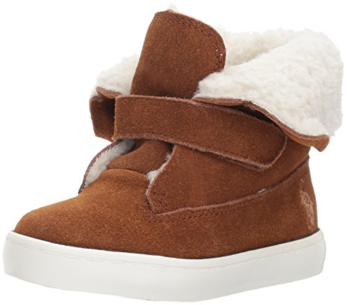 Polo Ralph Lauren Kids Girls' Siena Bootie Sneaker, Snuff Suede, 5 Medium US - Lauren Ralph Women Polo Boots