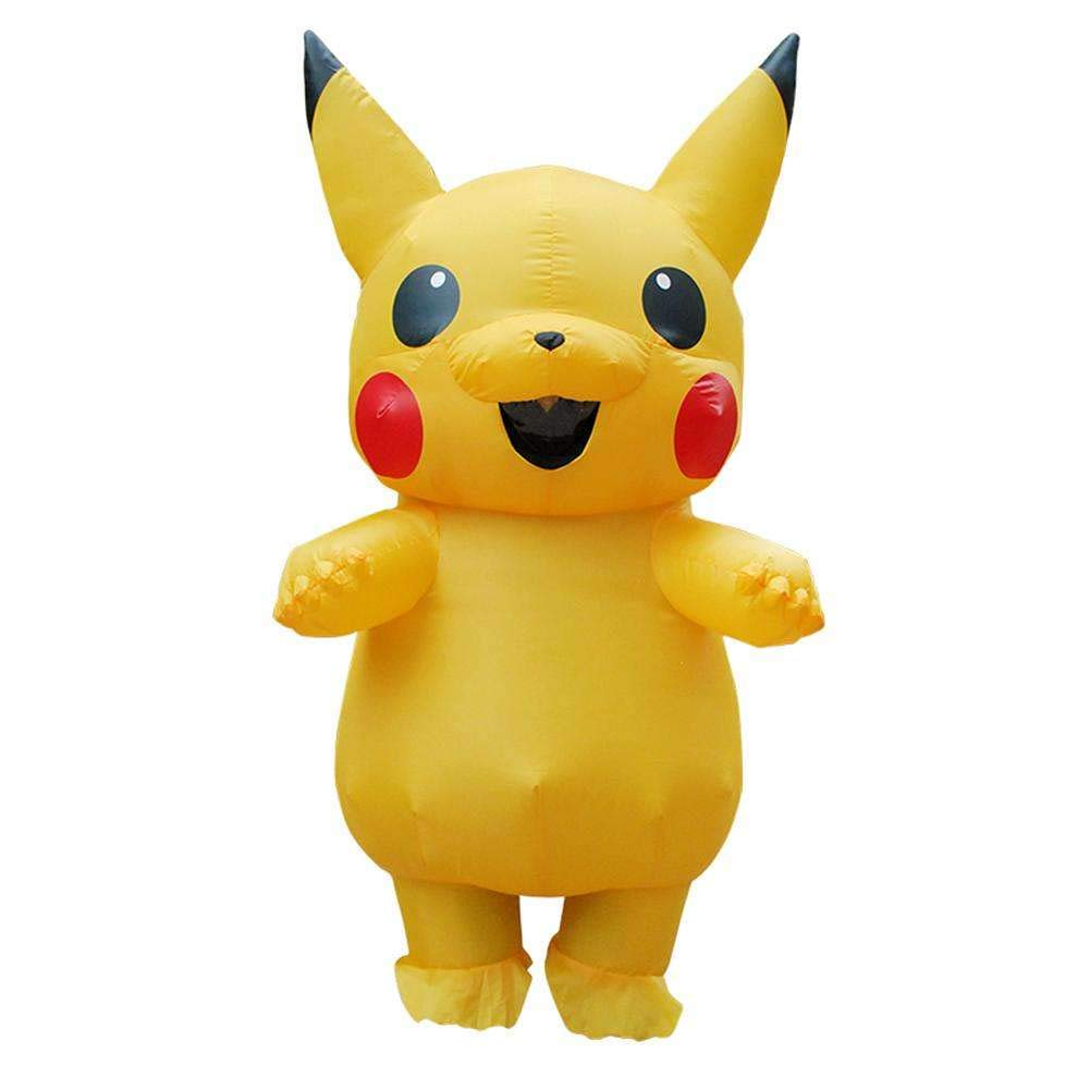 HAMISS for Inflatable Pikachu Costume Cosplay Inflatable Costume for Adults Outfit Men Women Blowup Mascots Fancy Dress Suit