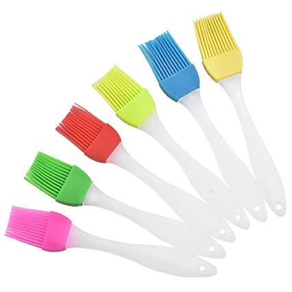 CTlite - Cepillo de silicona para barbacoa, 6 unidades, resistente al calor, juego