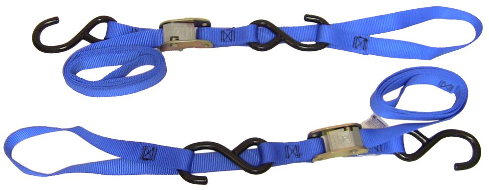 Ancra 49380-12-04 Blue Integra Soft Hook Cam Buckle Tie Down, 8 Pack by Ancra (Image #1)
