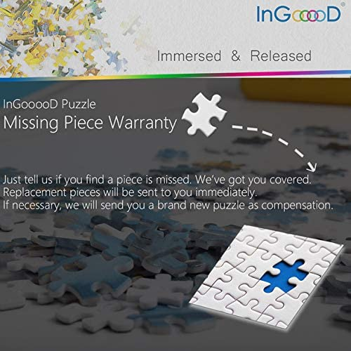 Accompanied/_IG-0506 Entertainment Toys for Adult Special Graduation or Birthday Gift Home Decor Ingooood Sneak Peek Series Jigsaw Puzzle 1000 Pieces