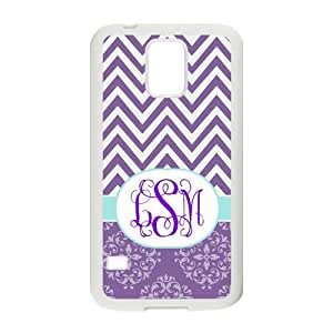 Zig Zag Purple Vintage European Pattern and Chevron Splice Personalized custom PhoneCase For Samsung Galaxy S5 by mcsharks