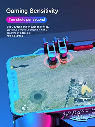 XIAOYONG Manette de jeu mobile pour PUBG Cooler Fan Grip 6 Doigts Déclencheur Joystick pour la plupart des téléphones portables