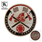 BudK Volunteer Firefighter Challenge Coin, Outdoor Stuffs