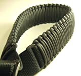 "550 lb Paracord Survival 2-Point Gun/Rifle Sling (Black, 1.25"" Wide Canvas)"