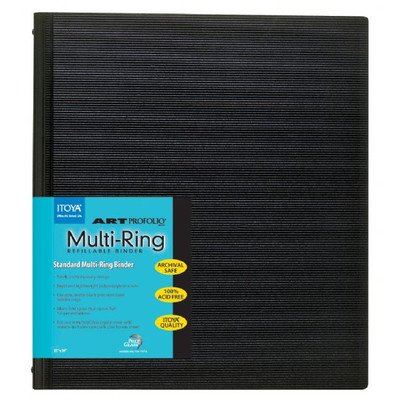 ITOYA RB-11-17 Multi Ring Binder 11X17, Multicolor by ITOYA