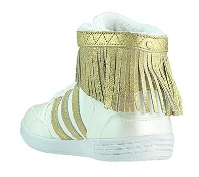 adidas Hightop Sneaker bbneo Hoops Fringe Q38967 Selena Gomez Damen weiß