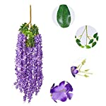 Luyue-Wisteria-Artificial-Flowers-46ft-Hanging-Flowers-Garland-Vine-for-Wedding-Party-Home-Decoration-in-Light-Purple