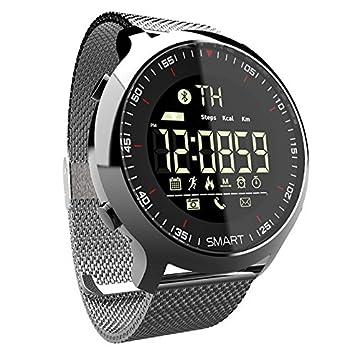 PINCHU Reloj inteligente Bluetooth Deporte podš®metro Llamada impermeable Recordatorio digital hombres SmartWatch Dispositivos usables para ios telšŠfono ...