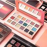 FOCALLURE Fashion Twilight 18 Colors Glitter Matallic Eyeshadow Palette Matte Shimmer Eye Shadow Makeup Palette With Morror (#4 Honey)