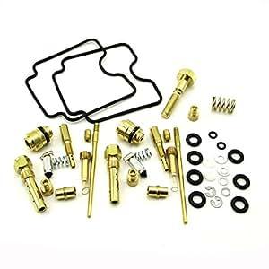 Race-Guy Complete Set Carburetor Rebuild Repair Kit For Yamaha YFM660R Raptor ATV Quad 4 Wheeler 2001 2002 2003 2004 2005