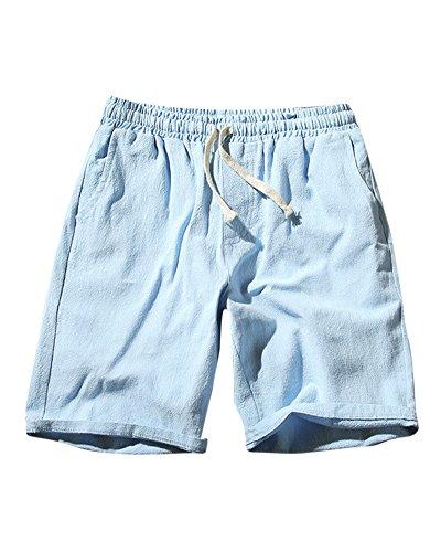 Hombre Casual Shorts Cortos Pantalones Tallas Grandes Bermudas De Lino
