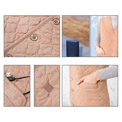 Hommes Gilet Réglable Chauffant Usb Pour Fluff Rechargeable Chargeant Femmes Électrique Leking TfBwyUZFqq