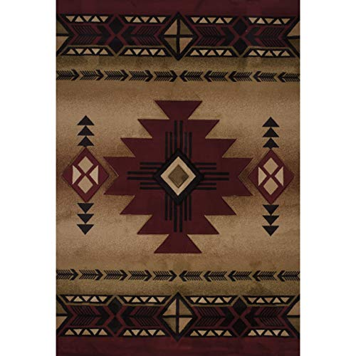 Westfield Home Sculptures Claiabelle Burgundy Hand Carved Area Rug - 5'3 x 7'6 from by Westfield Home