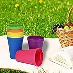 Fdit1-Tazze-riutilizzabili-riutilizzabili-della-Tazza-dei-pp-7PCS-Bicchieri-plastica-sicuri-della-lavapiatti-dellarcobaleno-Tazze-plastica-eliminabili-Piccolo-spuntino-Bevanda-Dimensione