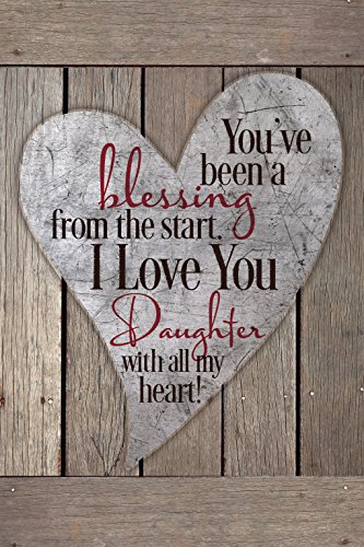 Dexsa Daughter Blessing Wood Plaque with Easel and Hook - You've Been A Blessing from The Start I Love You Daughter with All of My Heart (Hook Easel)