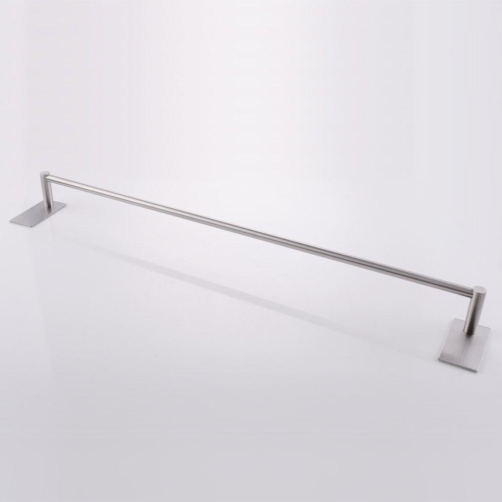 KES Self Adhesive 30-Inch Pan & Pot Rack with 10 Hooks SUS 304 Stainless Steel Sticky Kitchen Storage Organizer Bar Shelf Utensil Stick on Hanger Rustproof Wall Mount, Brushed Finish, KUR202S70-2 by Kes (Image #3)