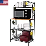 YAONIEO 4-Tiers Metal Kitchen Bakers Racks Organizer Microwave Oven Stand Storage Rack Shiping from US