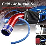 Ruien Universal Performance Induction Cold Air Intake Filter Alumimum 3inch/76mm Pipe Hose System Red