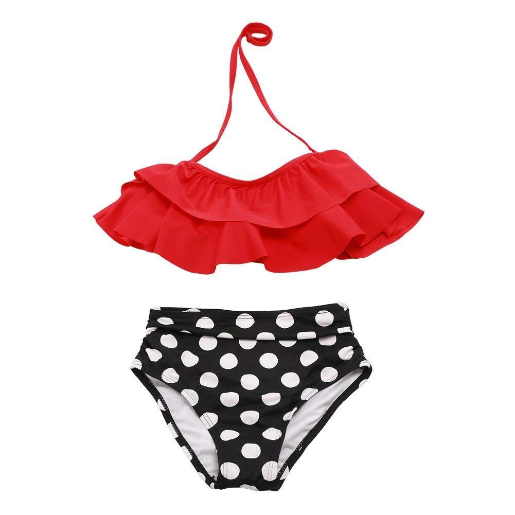 Two Piece Swimsuits for Girls Baby Girls Bikini Set Ruffle Bathing Suit Summer Tankini Swimwear