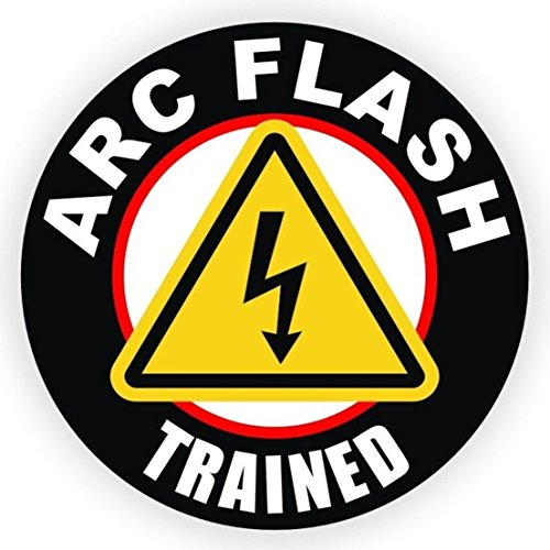 1 Pcs Tops Popular ARC Flash Trained Vinyl Sticker Signs Electrical Shock Weatherproof Self-Adhesive Size 2