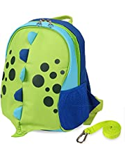 Yodo Playful Kids Pet Insulated Lunch Box Bag and Preschool Toddler Backpack, with Safety Harness Leash, for Boys and Girls, Multi