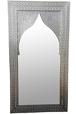 Orient Spiegel Wandspiegel Balqis 140cm Groß Silber Großer