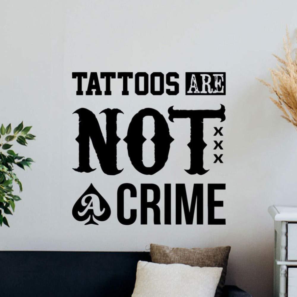 Tattoo no es un crimen tatuajes de pared cita tienda de ...