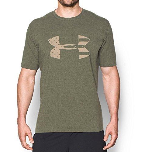 Under Armour Men's Freedom BFL T-Shirt, Marine Od Green/Desert Sand, Medium
