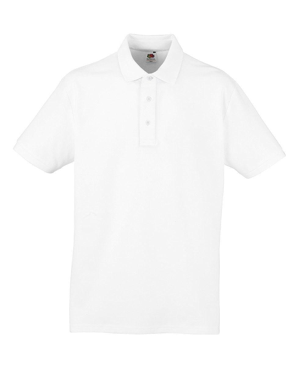 Mens Fruit Of The Loom 100% Cotton Heavy Polo T Shirt, 5 tshirt colours BTC