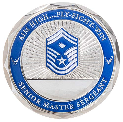 (United States Air Force Senior Master Sergeant w/Diamond Non-Commissioned Officer Rank Challenge Coin)