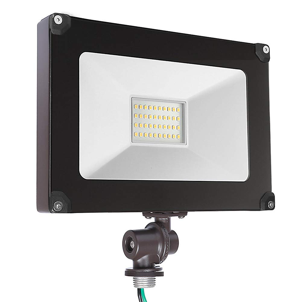 Cinoton LED Outdoor Flood Light,with Knuckle, 3300lm Ultra-Bright Waterproof Security Floodlight, 30W (200W Equivalent), DLC and ETL-Listed Exterior Lighting for Yard Porch, 5000K Daylight