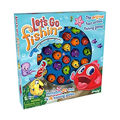 Let's Go Fishin' Game by Pressman - The Original Fast-Action Fishing Game!: Toys & Games