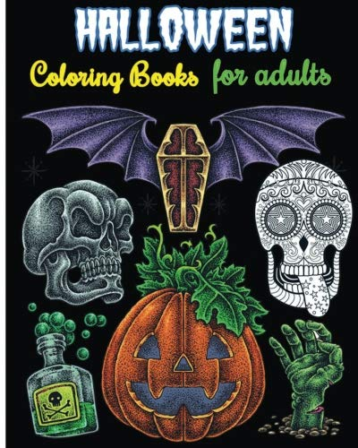 Halloween Coloring Books For Adults: Gothic Halloween For Relaxation (+100 Pages)]()